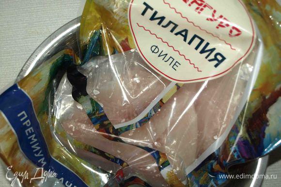 Тилапию ТМ «Магуро» разморозить, как указано на упаковке.