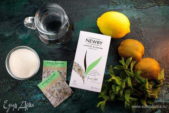 Для приготовления витаминного чая с мятным сахаром нам понадобятся следующие ингредиенты.