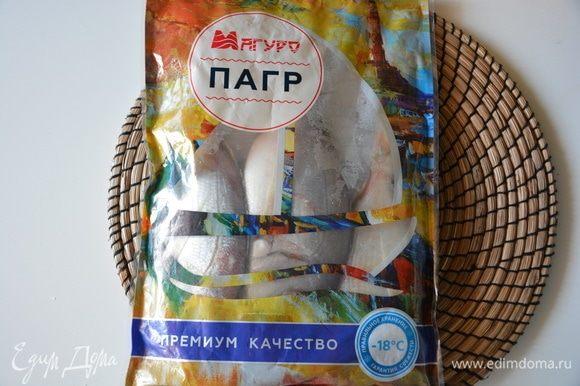 Рыбу пагр ТМ «Магуро» разморозить.
