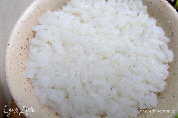 Затем рисовый слой до краев.