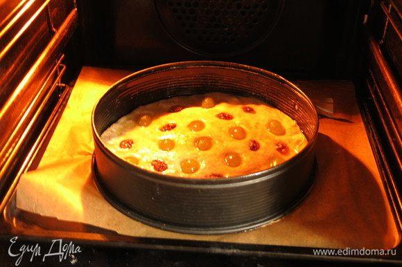 За это время нагреваем духовку до 250°С, нижний нагрев, ставим на нижний уровень, на 2-ой (на первом стало подгорать).