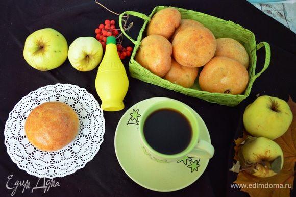 Выпекаем в разогретой до 180°С духовке 25-30 минут до румяной корочки. Наливаем себе чай или кофе и наслаждаемся!
