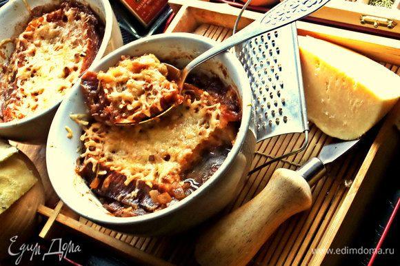 Как едим? Поддеть ложкой размягченную гренку-кусочек и подцепить вместе суп.