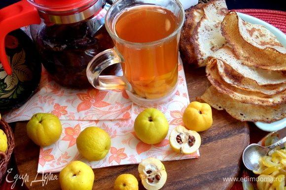 Дольки из чая тоже можно скушать, есть же любители лимонных корочек!
