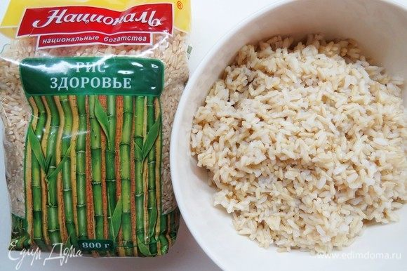Так выглядит отваренный рис.