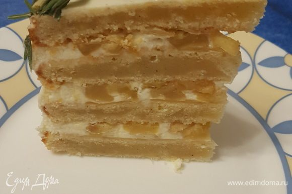 Я бы не советовала убирать непокрытый торт в холодильник, крем может потрескаться и заветриться. Я украшала торт розмарином и красной смородиной. С нетерпением жду ваших отзывов и фотографий. Приятного аппетита!