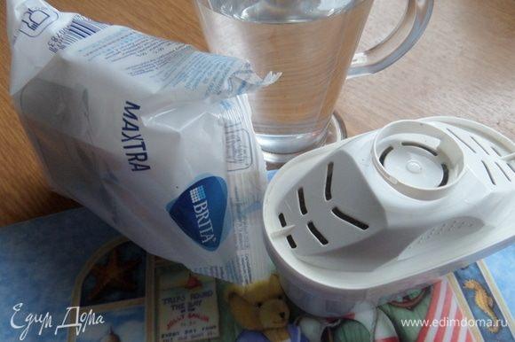 Используем воду, пропущенную через фильтр BRITA.