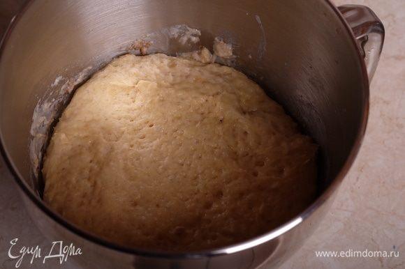 Через указанное время тесто увеличится в объеме примерно в 2 раза.