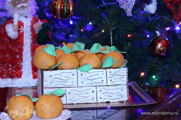 Вкусный новогодний торт готов!