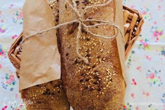 Хрустящий, ароматный хлебушек готов!