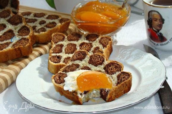 Ароматный вкусный хлеб для завтрака готов!