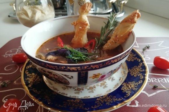 Все готово! Подаем наш суп буйабес!