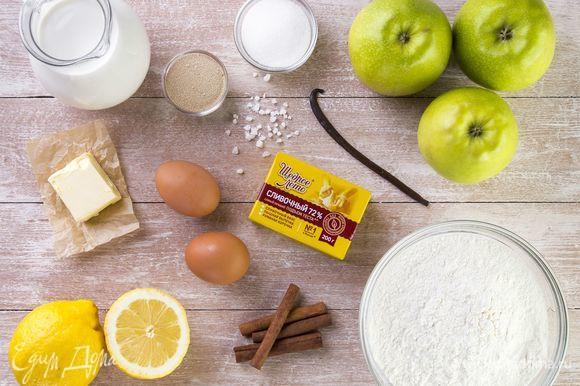 Для приготовления булочек нам понадобятся следующие ингредиенты.