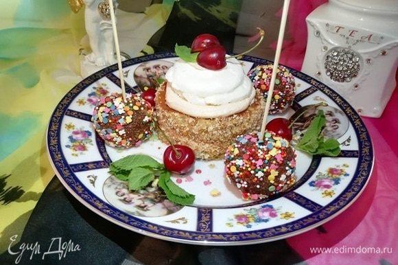 Пирожное «Нежный поцелуй» готово. Угощайтесь и наслаждайтесь!