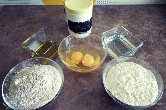 Подготавливаем ингредиенты для теста.
