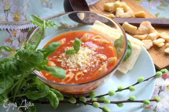 Такой суп можно смело приготовить и на ужин. Сытно, вкусно.