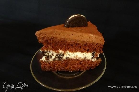 Торт получается ооочень нежным, просто тает во рту.