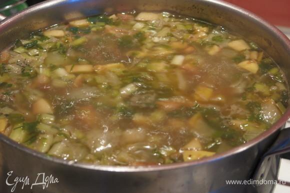 Подаем суп горячим с бараниной, пока жир не застыл.