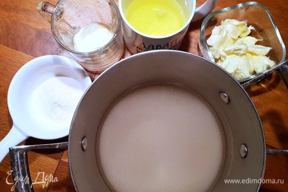 Пока коржи остывают, займемся приготовлением суфле.