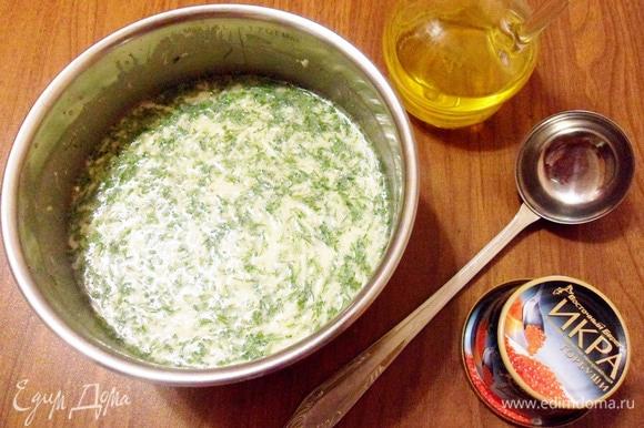 Добавить в тесто 3 ст. л. растительного рафинированного масла. Хорошо вымесить.