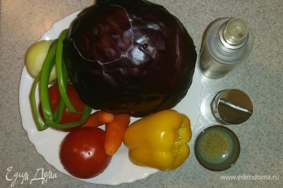 Подготавливаем все необходимые ингредиенты. В перечне ингредиентов я указала приправу для салатов, вы можете использовать любую, которой всегда пользуетесь.