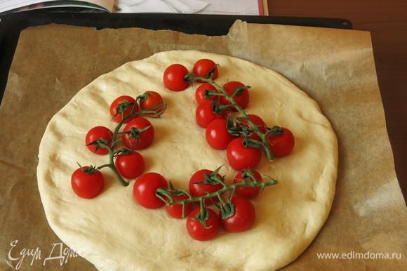 Раскладываем помидоры на веточках, накрываем полотенцем влажным и даем отдохнуть 10 минут.