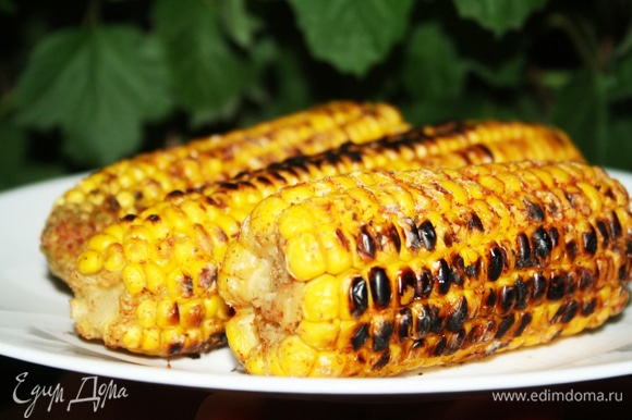 Ароматная острая кукуруза готова!