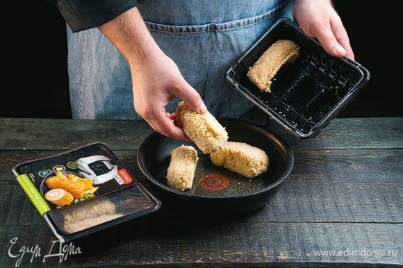 Котлеты сливочные с сыром ТМ «Петруха Мастер» обжарьте с двух сторон до румяной корочки.