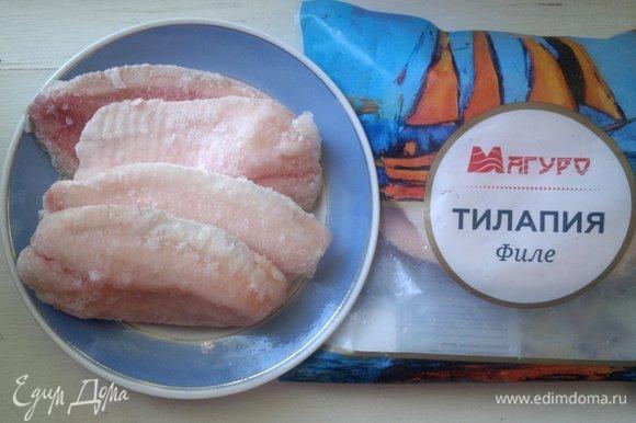 Филе тилапии ТМ «Магуро» достать из морозилки. Разморозить в холодильнике в течение 6–8 часов.