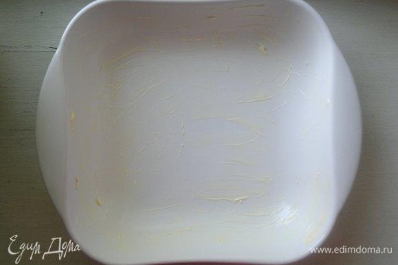 Форму для запекания смазать кусочком сливочного масла.