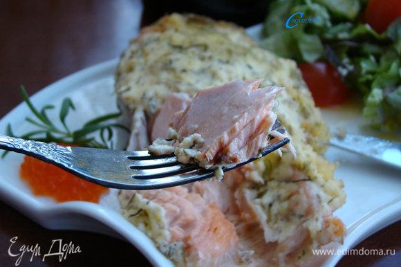 Приготовленная в СВЧ-печи рыбка получилась сочной и нежной, просто тает во рту. Отличный вариант для романтического ужина!