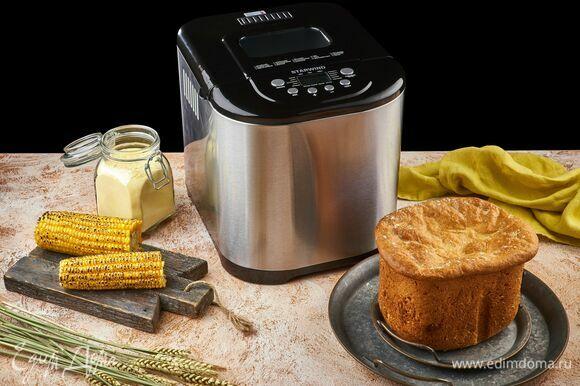 Готовый хлеб остудите и только потом разрезайте. Приятного аппетита!