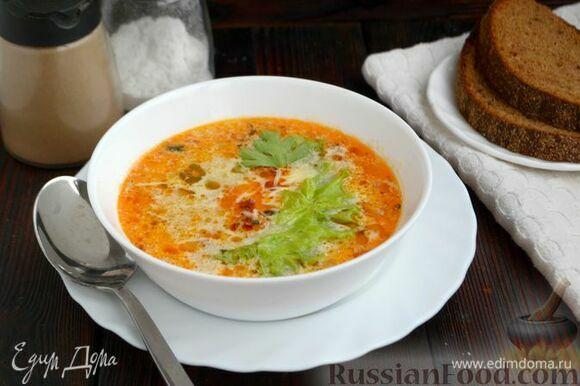 Подавайте итальянский суп с фаршем к столу горячим. Ароматная Италия у вас дома — это тосканский суп с фаршем!