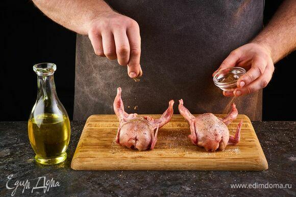 Посыпьте гвоздикой, смажьте растительным маслом. Выложите на противень. Запекайте в духовке, разогретой до 180°С, около 25 минут.