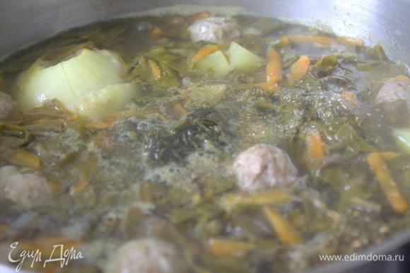 Суп сварился.