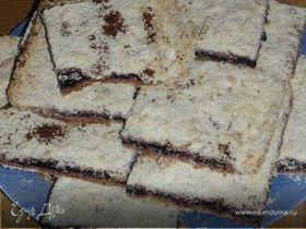 Тертый постный пирог