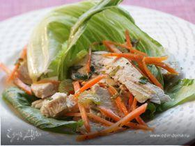 Куриный салат с горчичным соусом