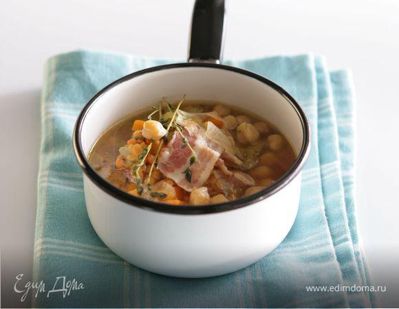 Суп из чечевицы с беконом