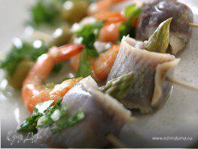 Салат с сельдью по-испански