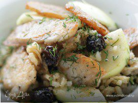 Салат из риса с индейкой