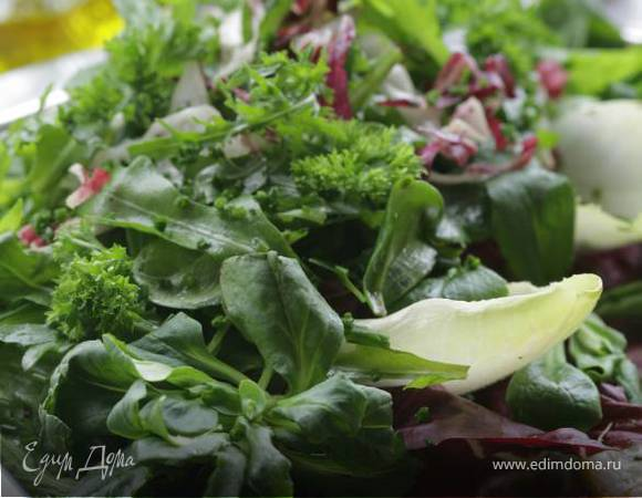 Очень простой салат с цикорием