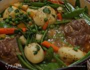 Баранина с весенними овощами