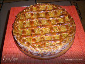 Пирог с яблочно-тыквнной начинкой