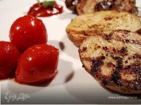 Картофель с пряностями на гриле