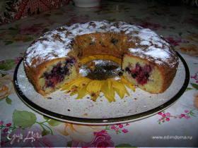 Клубнично-черничный пирог к чаю