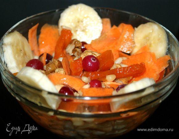 Витаминный салат с имбирно-медовой заправкой