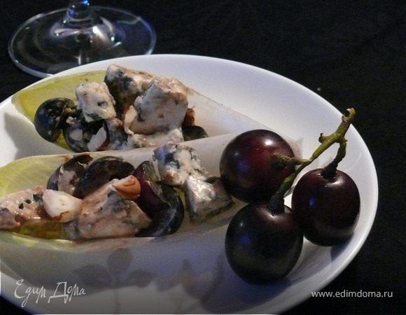 Сырно - виноградные лодочки