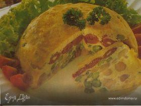 Омлет с салями