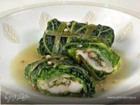 Рыба в капустных пакетиках