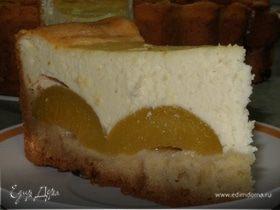 Творожно-персиковый торт
